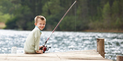 Boy Fishing 500x250 - Anchorage at the Lake - Tilton, NH