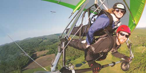 Tandem Hang Gliding - Morningside Flight Park - Charlestown, NH