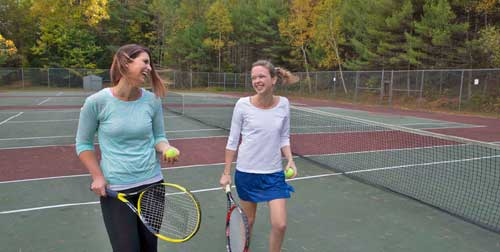 Tennis Mom and Daughter Purity Spring Resort Madison New Hampshire