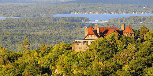 Aerial View 500x250 - Castle in the Clouds - Moultonborough, NH