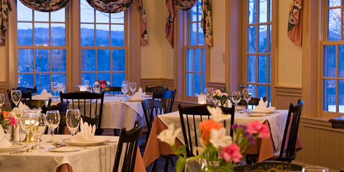 Dining with a View 500x250 - Chesterfield Inn - West Chesterfield, NH