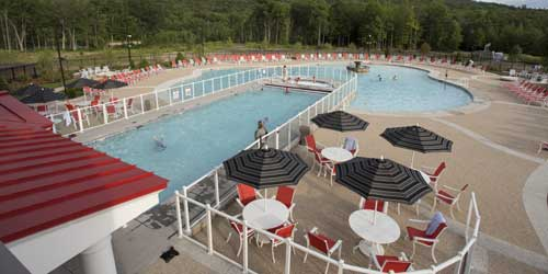 Outdoor Pool River Walk Resort at Loon Lincoln New Hampshire Photo Credit Kathereine Betts
