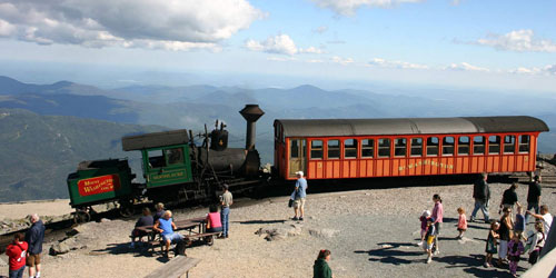 At the Summit Station 500x250 - Mount Washington Cog Railway - Bretton Woods, NH