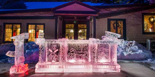 Ice Sculpture Stonehurst Manor North Conway New Hampshire