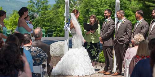Wedding Ceremony Stonehurst Manor North Conway New Hampshire
