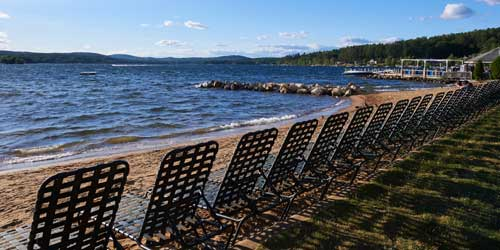 Lakeside Beach Chairs - Margate Resort on Winnipesaukee - Laconia, NH