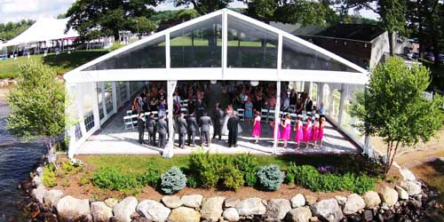 Lakeside Wedding Pavilion - Margate Resort on Winnipesaukee - Laconia, NH