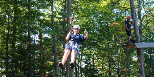 Zip Line 500x250 - ELC Outdoor Adventure Outpost - Errol, NH