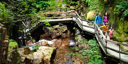 The Flume Gorge at Franconia Notch State Park