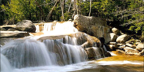 waterfalls of New Hampshires with VisitNewEngland.com