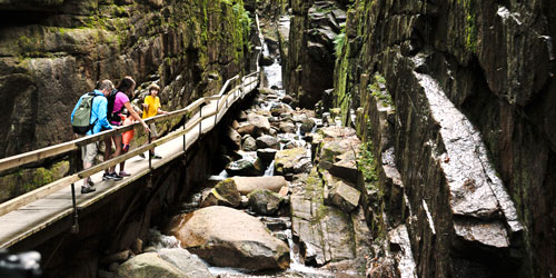 walking the paths of Flume gorge-credit-NH Division of Travel and Tourism Development