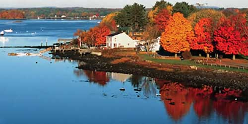 Fall Foliage on New Hampshire's Coastline