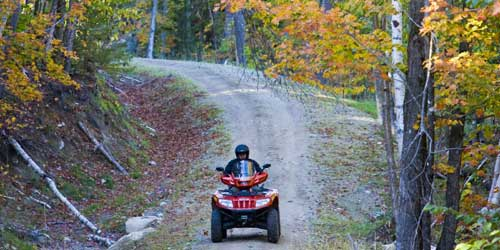 Fall Foliage Pinkham Notch loop ATV rider at Jericho Mountain State Park in Berlin-credit-NH Division of Travel and Tourism Development