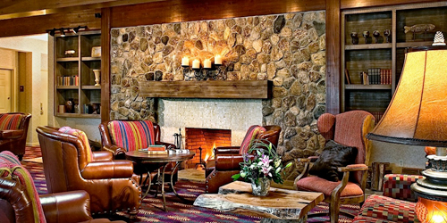 Lobby Sitting Area & Fireplace - The Wolfeboro Inn - Wolfeboro, NH