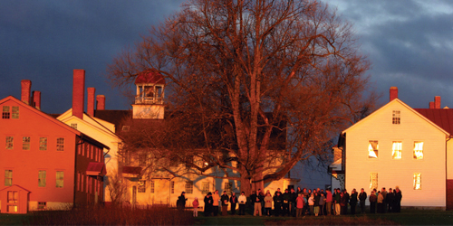 Easter Morning Gathering - Canterbury Shaker Village - Canterbury, NH