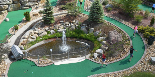 Longest Mini Golf Hole - Chuckster's Family Fun Park - Chichester, NH