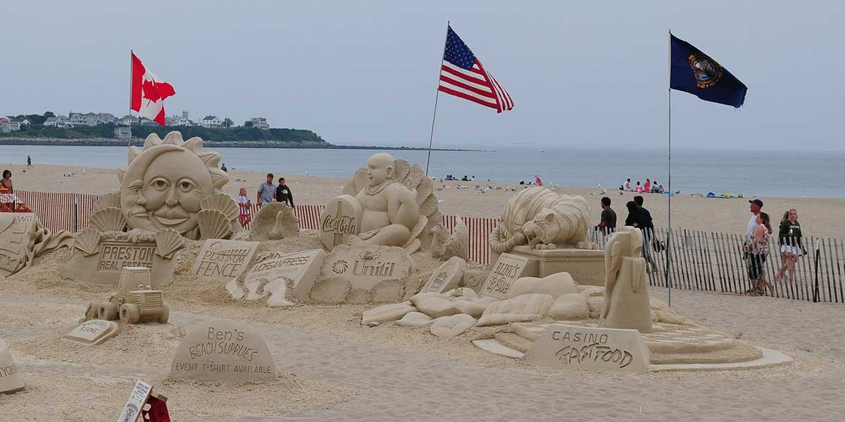 NH  Spring Sand Sculpture
