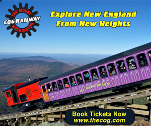 Climb to the Highest Peak in New England on the Mount Washington Cog Railway! Open May thru November - Click here for tickets.