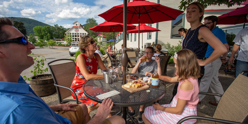 Outdoor Cafe - Seven Birches Winery - Lincoln, NH