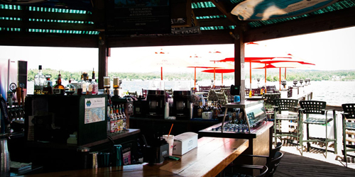 Lakeside Bar - Margate Resort on Winnipesaukee - Laconia, NH