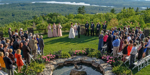 Outdoor Wedding Ceremony - Castle in the Clouds - Moultonborough, NH - Photo Credit Rick Bouthiette