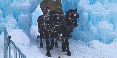 Sleigh Ride - Ice Castles - North Woodstock, NH