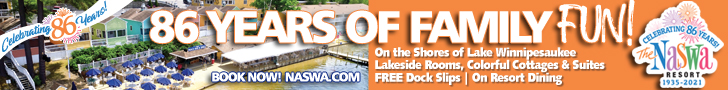 The Naswa Resort in Laconia - The Ultimate NH Resort Destination! Click to learn more.
