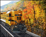 Train Ride in the Foliage