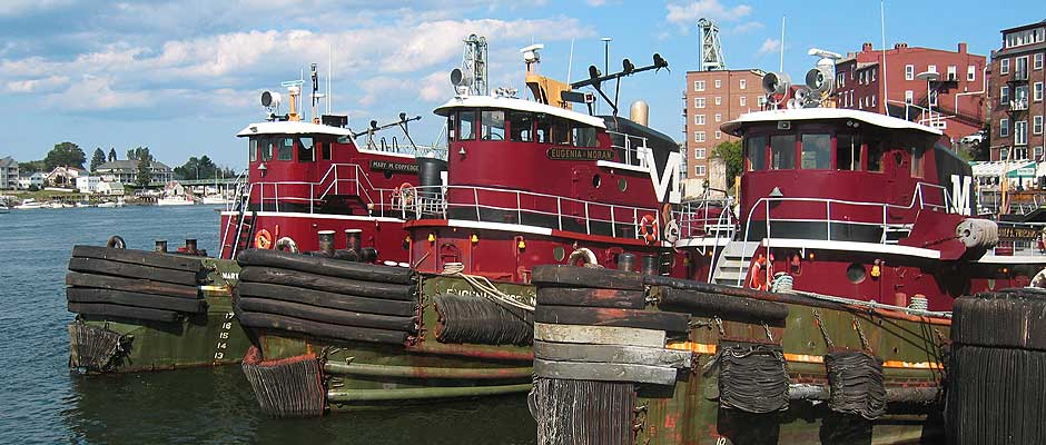 Tugboats docked at Portsmouth, NH. Photo: Greater Portsmouth Chamber of Commerce