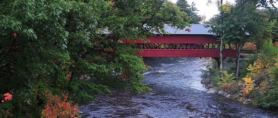 Covered Bridge over the Saco River near Conway, NH