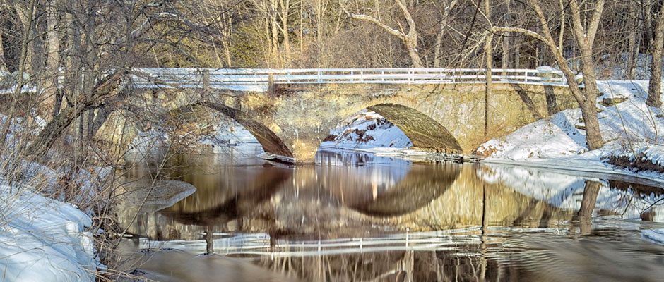 Icy Bridge in Keene New Hampshire
