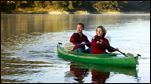 kayaks canoes, paddling on the lakes and bays of New Hampshire