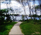 walking trails of Peirce Island off Portsmouth NH