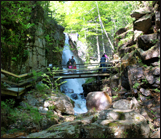 flume gorge in Franconia Notch State Park NH