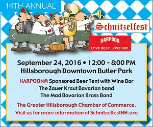 The 14 Annual Schnitzelfest NH - Saturday, Sept. 24, 2016. Click here for additional information and tickets!