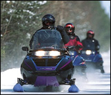 snowmobiling in the Great North Woods