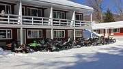 Group Snowmobile Parking - Woodwards Resort & Inn - Lincoln, NH
